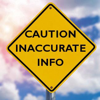Caution-Inaccurate