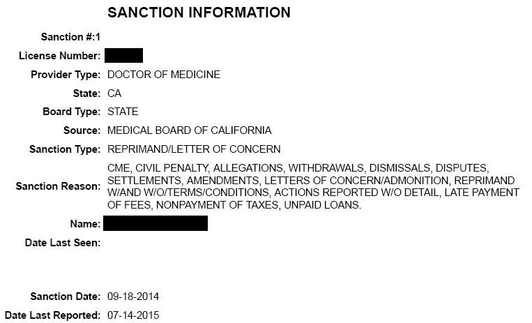 Sanction-Info
